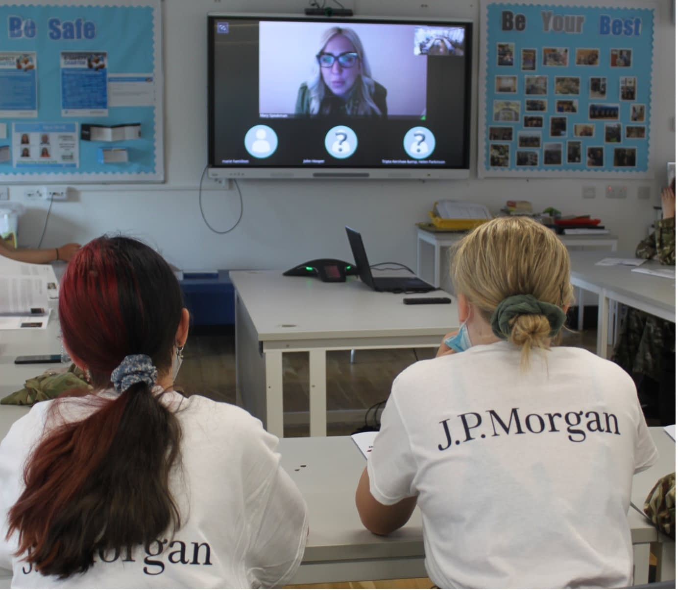 A virtual event from Cyber Girls First, with Mary Speakman, co-founder of Code Galaxy, featuring on screen